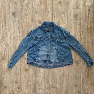 Free People Denim Top Size XS